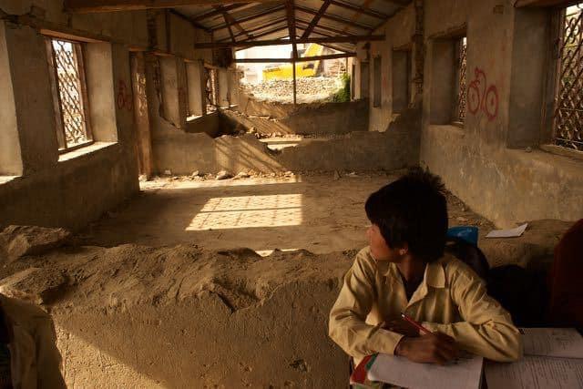 A secondary-school-big-earthquake-damage
