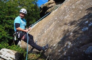 Abseiling at Brimham Rocks