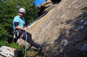 Abseiling at Brimham Rocks