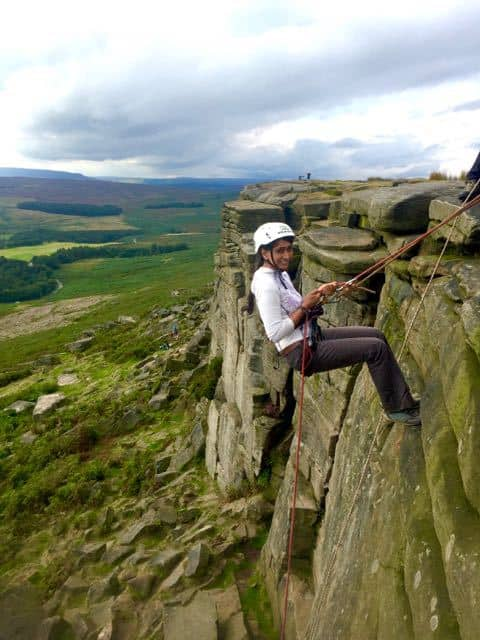 Abseiling-Lady-Peak-District