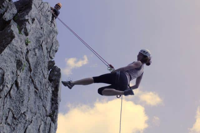 Abseiling-Lady-Yorkshire-Dales
