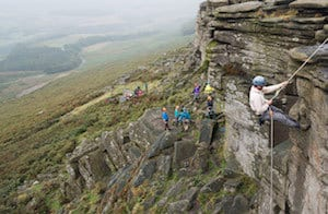 Stanage Edge Charity Abseil