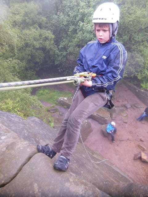 Abseiling for kids