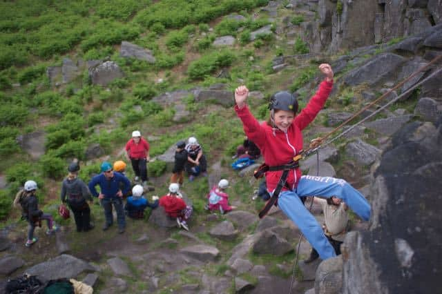 Abseiling-hathersage