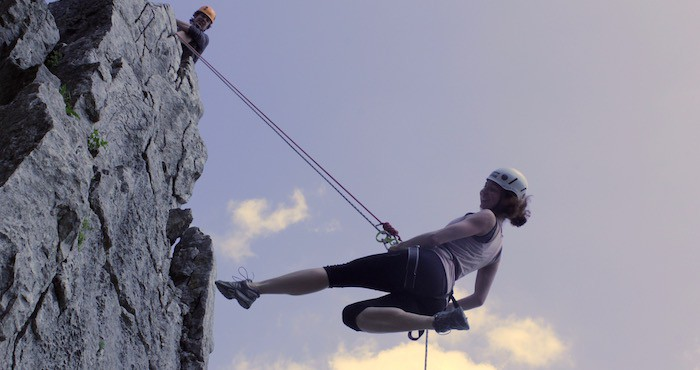 Abseiling from mountains in the UK