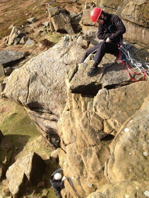 Belaying-Lead-Climbing-Training-Course-Peak-District-Stanage