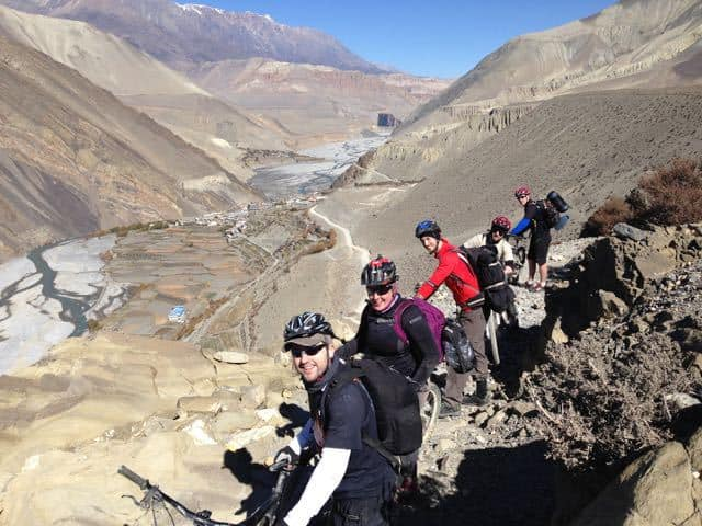 Biking Near Muktinath