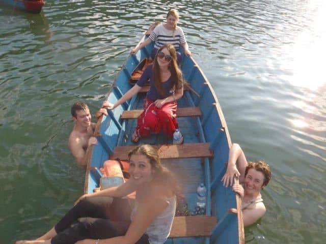 Boating on Lake at Pokhara