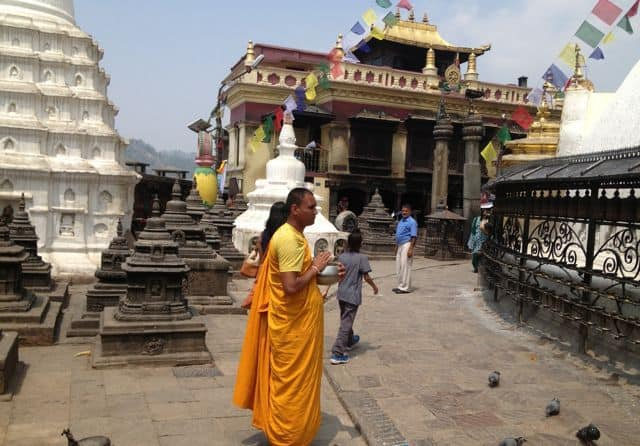 Buddhist Monk in Kathmandu