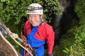 Vertical cave trip near Ingleton