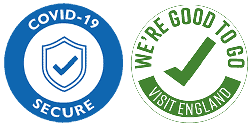 We're recognised as a Covid-19 Secure company and declared Good to Go by Visit England.