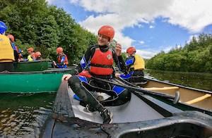 Cadet group canoeing