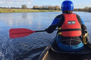 Canoeing down a river near Catterick