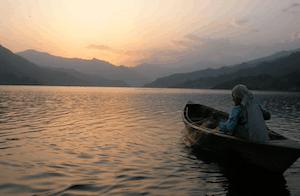 Canoeing in Pokhara