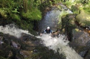 Gorge scrambling in Peak District