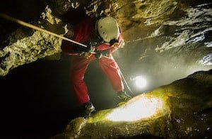 Abseiling-into-Cave