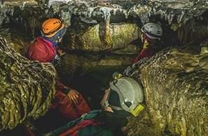 Try caving in Derbyshire