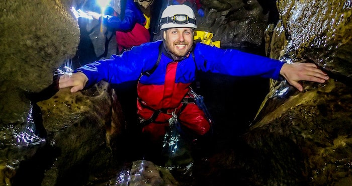 Caving activity in Yorkshire Dales