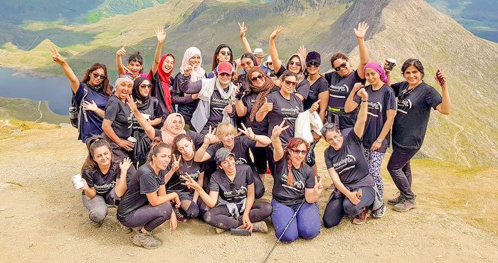 Charity mountain climb