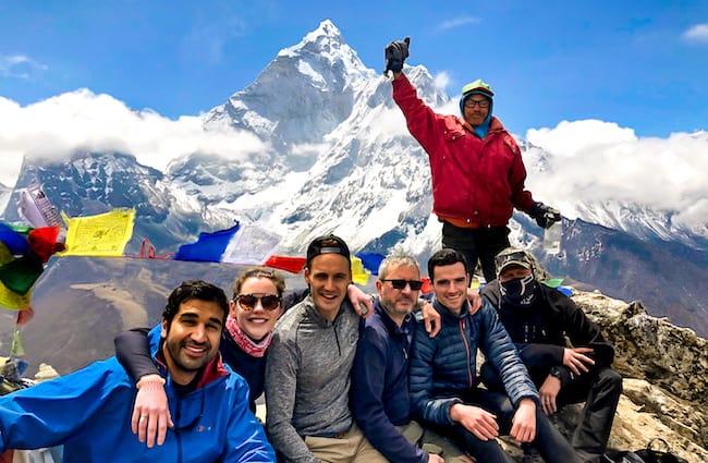 Group reach summit of Everest Base Camp Nepal Trek