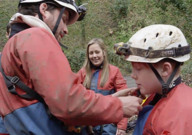 Children-Scout-Group-Caving