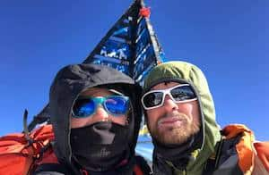 Climbers on the top of Toubkal