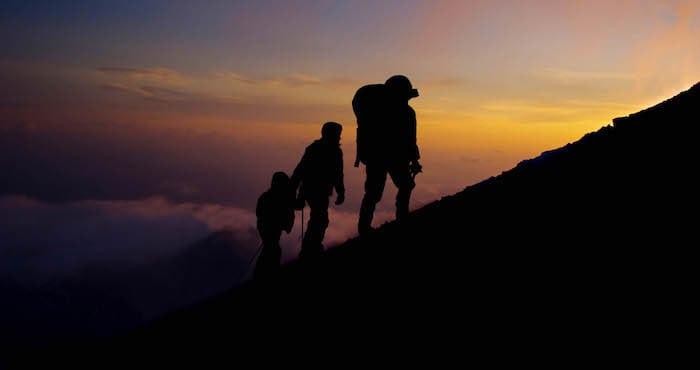 Climbing up Ben Nevis by night
