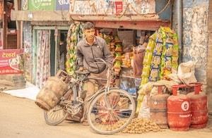 Cyclist in Kathmandu