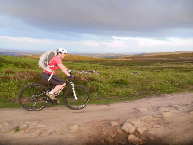 Cycling the Stanage Loop in the Peak District