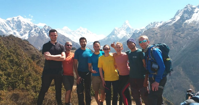 Everest charity challenge group