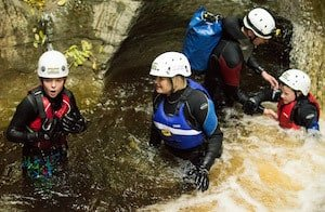 Gorge Scrambling in Yorkshire