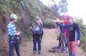 Filming rock climbing Nepal