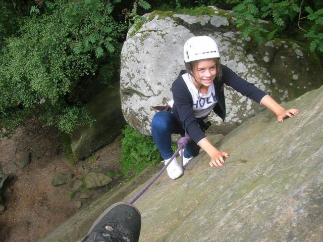 Girl-Top-Rope-Climbing-Brimham-Rocks