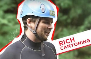 Filming Canyoning Yorkshire