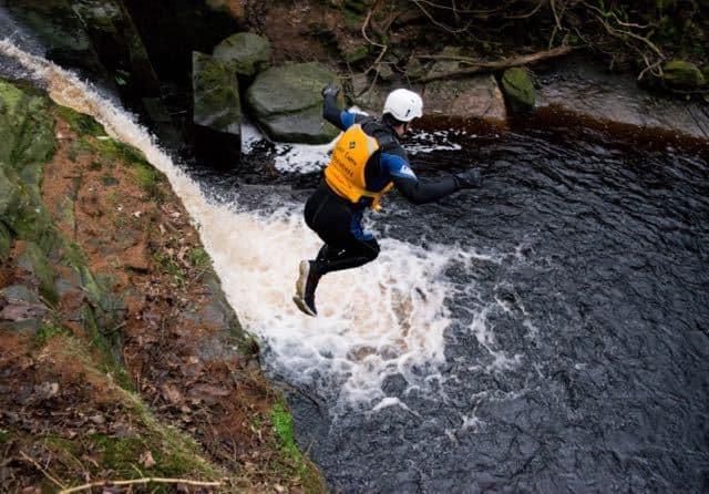Gorge-Walking-Jump-Yorkshire