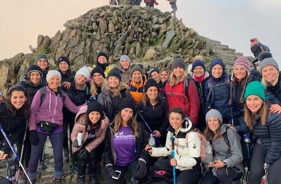 Charity team hike up Snowdon at night to raise money for charity