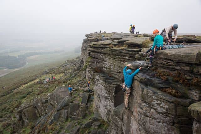 Group-Climbing-Peak-District-Stanage