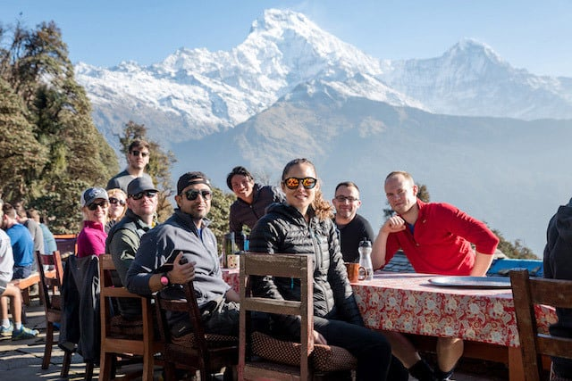 Group-of-Trekkers-Annapurna-South