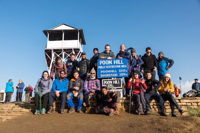 Group-of-Trekkers-Poon-Hill-Summit