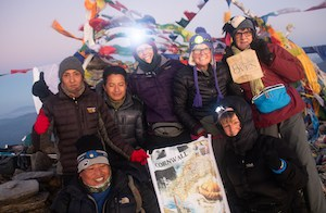 Group trek on the Pikey Peak tour in Nepal