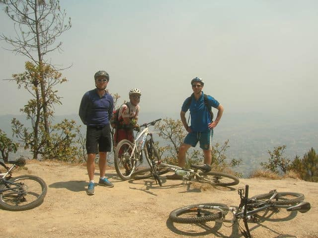 Guided mountain bike ride in Nepal