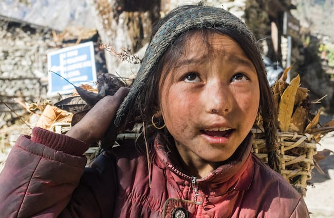 Nepalese Mountain Child