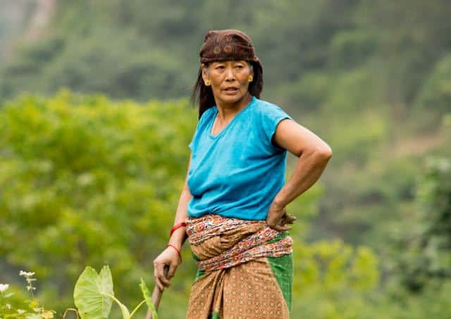 Gurung-Lady-Farming-Gandruk