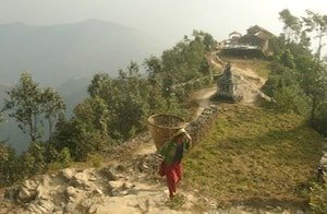 Nepali Girl with Basket