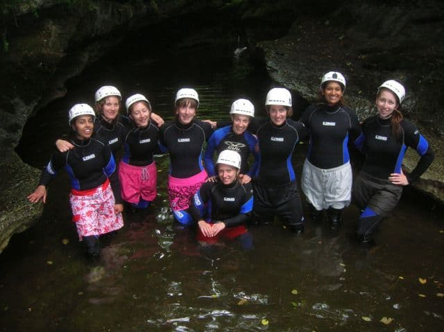 Hen_party_gorge_walking_in_Yorkshire_10