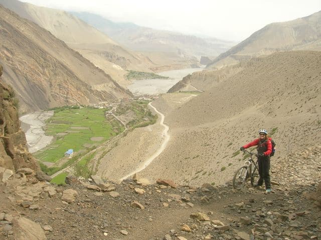 High Himalayan biking