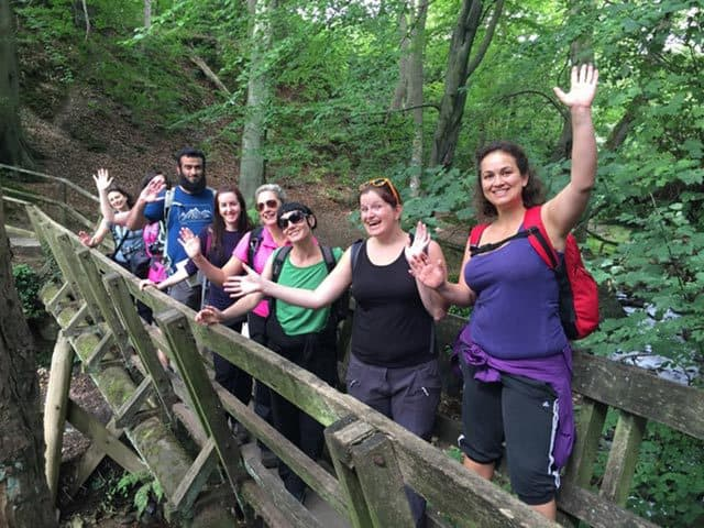 Hikers-on-a-Bridge