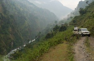 Jeep through the Nepalese Himalaya