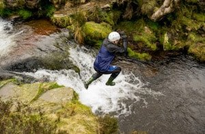 Try gorge walking in Peak District