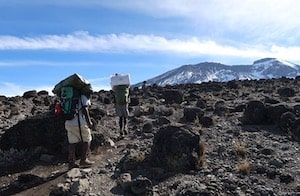 Mount Kilimanjaro rocky trek